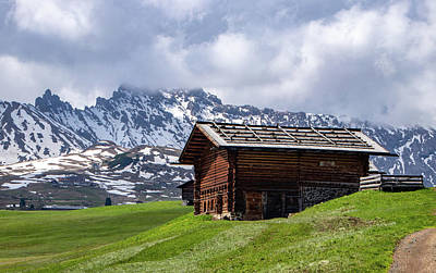 Photograph - Hut In The Dolomites by Carolyn Derstine