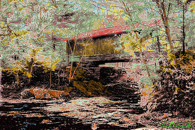 Hutchins' Bridge Art Print by John Selmer Sr