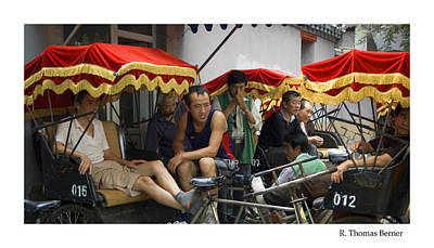 Art Print featuring the photograph Hutong Tour Driveres by R Thomas Berner