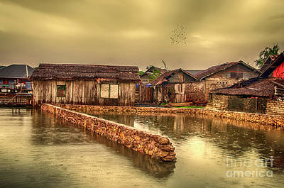 Art Print featuring the photograph Huts 2 by Charuhas Images