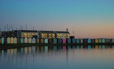Essex Wall Art - Photograph - Huts by Martin Newman