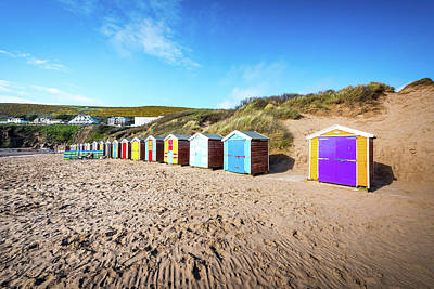 Huts On A Beach Art Print by Svetlana Sewell