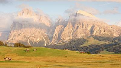 Photograph - Huts On The Alpe Di Siusi by Stephen Taylor
