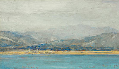 Australian Landscape Painting - Hutt Valley by Tom Roberts