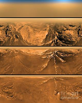Photograph - Huygen Probes View Of Titan by Nasa
