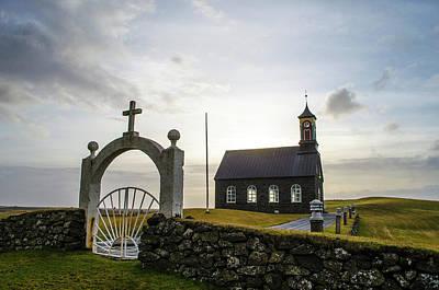 Photograph - Hvalsneskirkja Sandgerdi Iceland by Deborah Smolinske