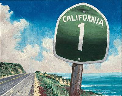 Pacific Coast Highway Painting - Hwy 1 by Andrew Palmer