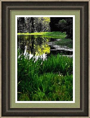 Photograph - Hwy 47 Bank And Reflections 1074 Framed by Jerry Sodorff