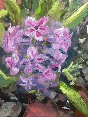 Painting - Hyacinth At My Momma's House by Susan Elizabeth Jones
