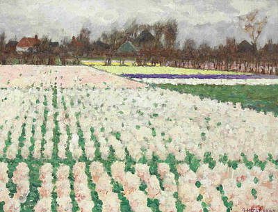 Hyacinth Fields Art Print by George Hitchcock
