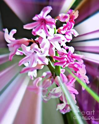 Mixed Media - Hyacinth Glory by Leanne Seymour