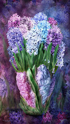 Flowers In Vase Mixed Media - Hyacinth In Hyacinth Vase 1 by Carol Cavalaris