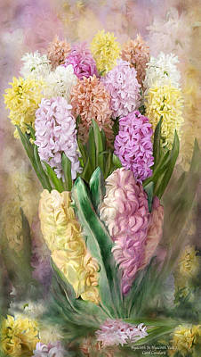 Flowers In Vase Mixed Media - Hyacinth In Hyacinth Vase 2 by Carol Cavalaris