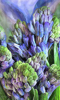 Mixed Media - Hyacinth Moods 1 by Carol Cavalaris