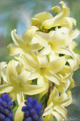Photograph - Hyacinth Painting by Garvin Hunter
