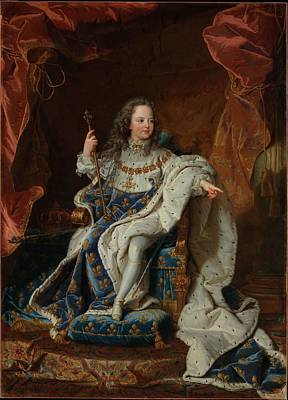 Louis Xv Painting - Hyacinthe Rigaud by MotionAge Designs