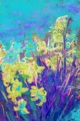 Photograph - Hyacinths After The Style Of Van Gogh by Suzanne Powers