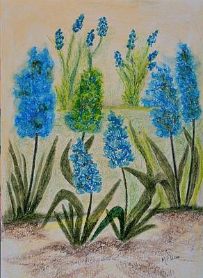 Pastel - Hyacinths In Spring by Maria Urso