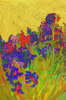 Photograph - Hyacinths In The Style Of Van Gogh by Suzanne Powers