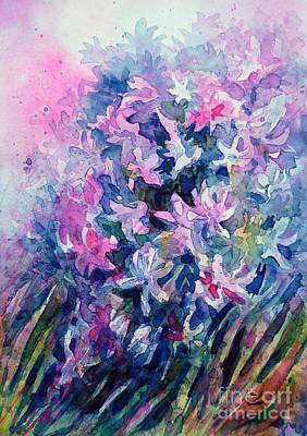 Painting - Hyacinths by Zaira Dzhaubaeva