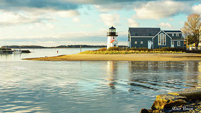 Photograph - Hyannis Harbor Light by Walt Baker