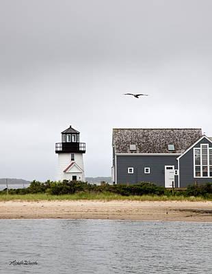 Hyannis Harbor Lighthouse Cape Cod Massachusetts Art Print