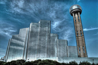 Photograph - Hyatt Regency Dallas And Reunion Tower by Dyle   Warren