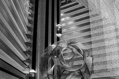 Photograph - Hyatt Regency Sf Atrium Bw by Bonnie Follett