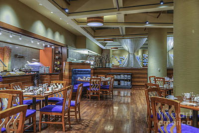 Photograph - Hyatt Waterfront Hotel Restaurant by David Zanzinger