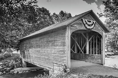 Photograph - Hyde Hall Covered Bridge by Guy Whiteley