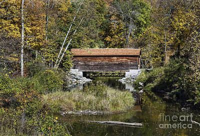 Cooperstown Photograph - Hyde Hall Covered Bridge by John Greim