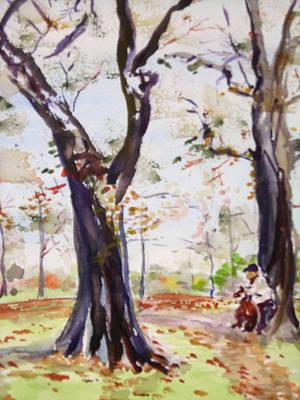 Hyde Park Autumn II Original by Nancy Brennand