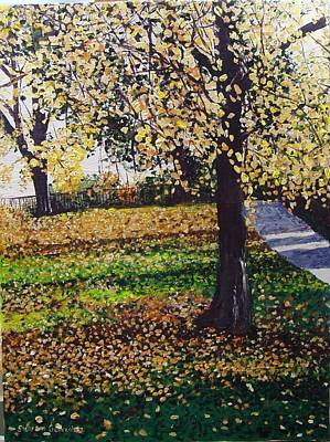 Hyde Park London Art Print by Sharon  De Vore