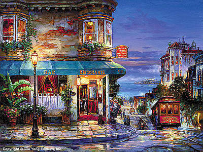 Cao Yong Painting - Hyde Street by Cao Yong