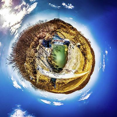 Photograph - Hyde's Mill Little Planet by Randy Scherkenbach