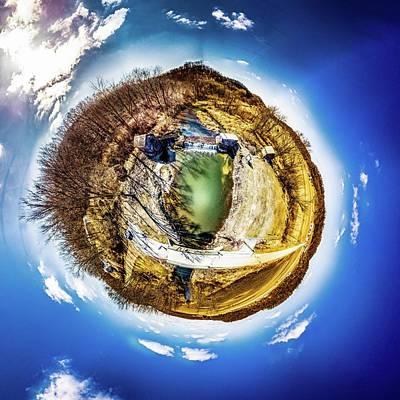 Photograph - Hyde's Mill Little Planet by Randy Scherkenbach