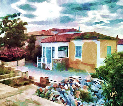 Hydra Island Painting - Hydra Cottage by Laurence Canter