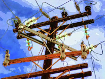 Telephone Poles Mixed Media - Hydra by Dominic Piperata