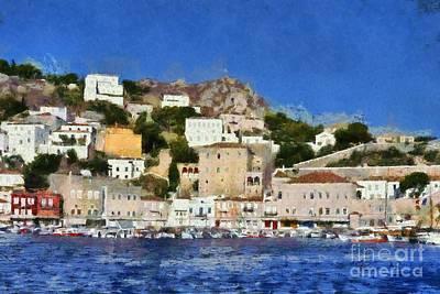 Painting - Hydra Island II by George Atsametakis
