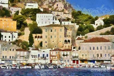 Painting - Hydra Island IIi by George Atsametakis