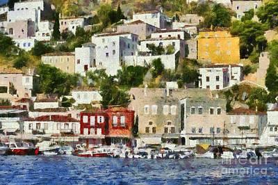Painting - Hydra Island Iv by George Atsametakis