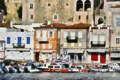 Painting - Hydra Island Vi by George Atsametakis