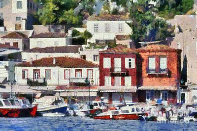 Painting - Hydra Island Vii by George Atsametakis
