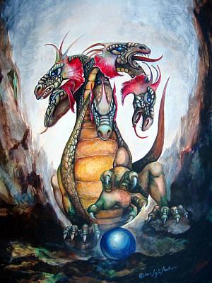 Fantasy Creatures Painting - Hydra by Leyla Munteanu