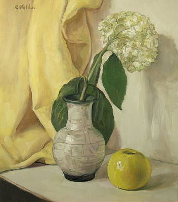 Painting - Hydrangea And Apple by Robert Holden