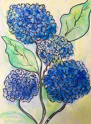 Painting - Hydrangea Blues by Anne Sands