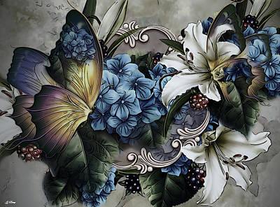 Flower Still Life Mixed Media - Hydrangea Bouquet by G Berry