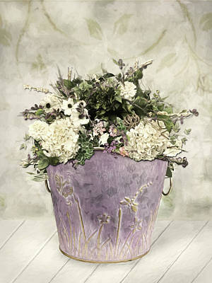Photograph - Hydrangea Bucket by Lori Deiter