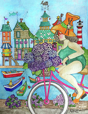 Painting - Hydrangea Delivery by Rosemary Aubut