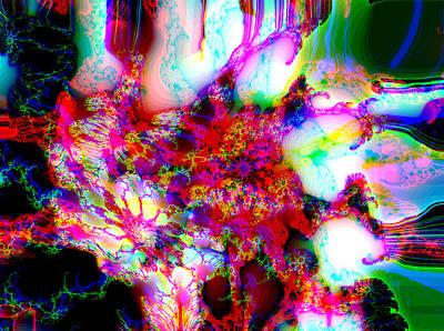 Digital Art - Hydrangea Explosion 1 by Max DeBeeson